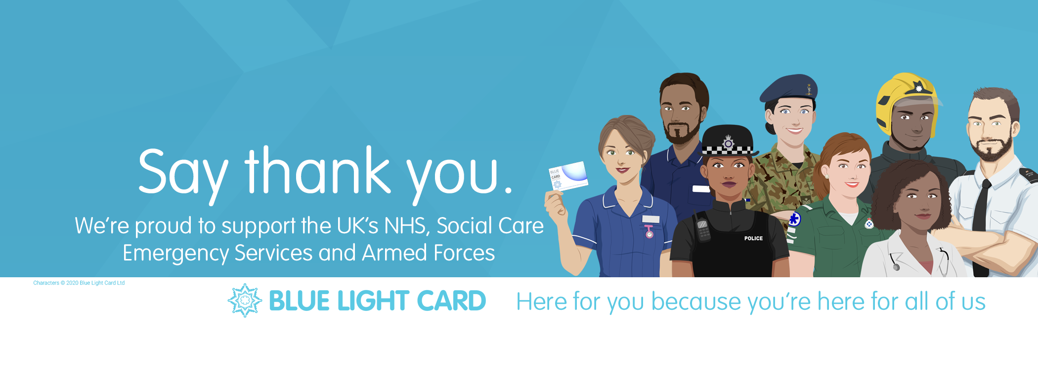 Help say Thankyou to the NHS, Emergency Services and Armed Forces! BLue Light Card the UKs largest Emergency Service, NHS and Armed Forces Discount Provider