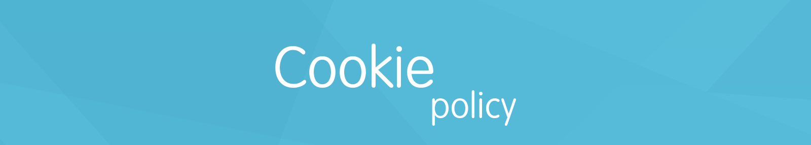 Cookie Policy Header
