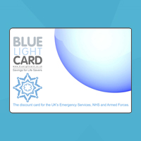 High Street discounts through the Blue Light Card