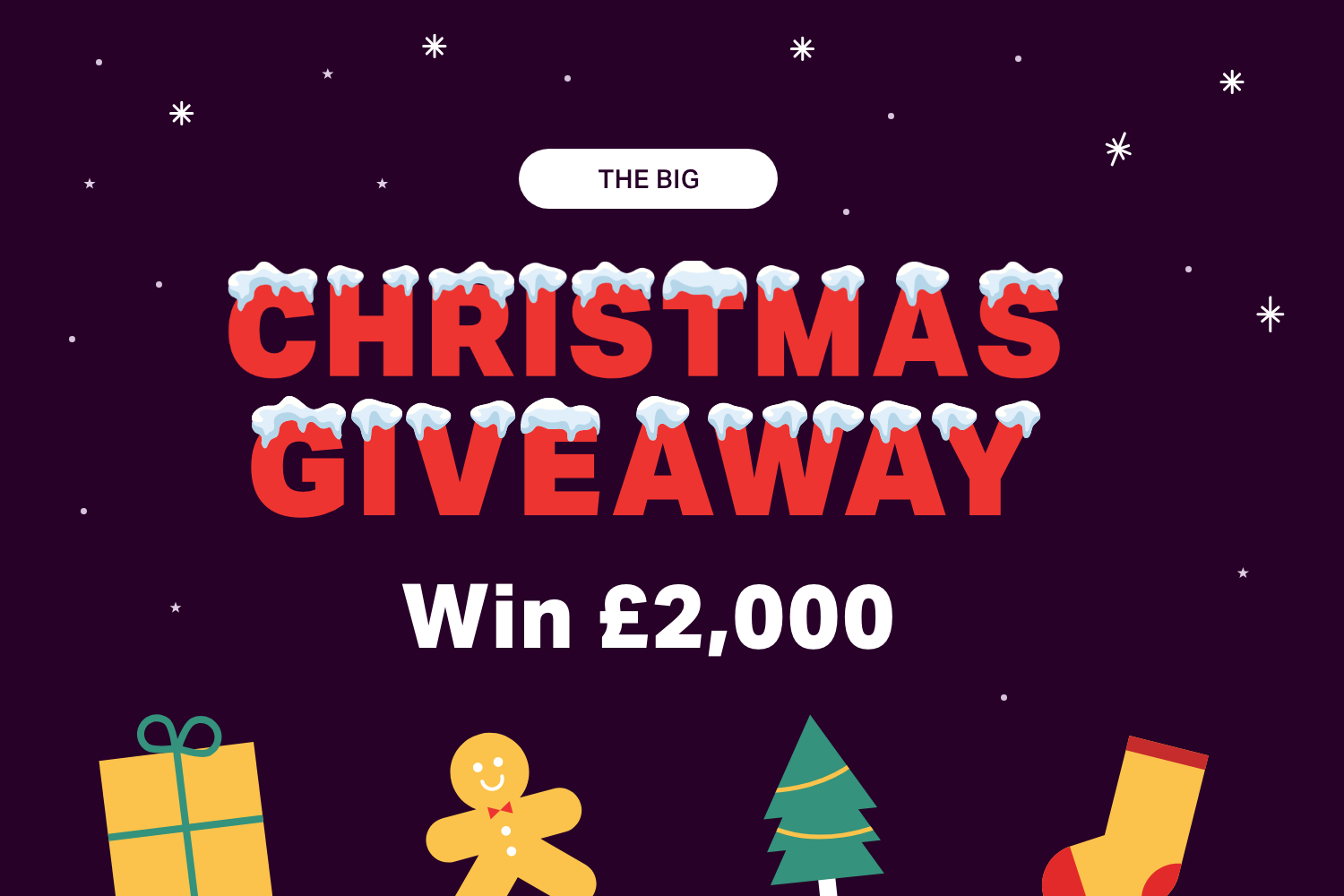 Win £2,000 and have Christmas on us! >