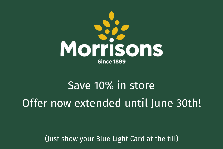 10% Morrison's discount extended until June 30th