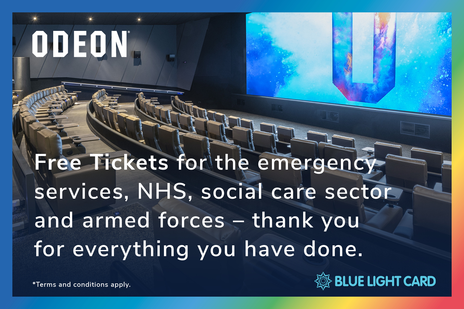 ODEON is offering BLC members a free pair of cinema tickets!