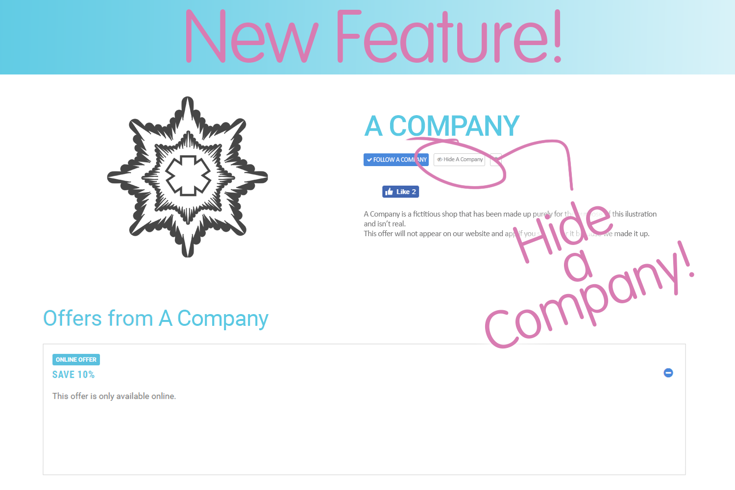 NEW Feature - Hide a Company