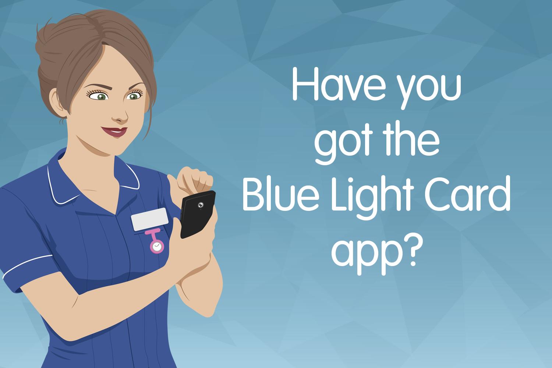 The Blue Light Card app