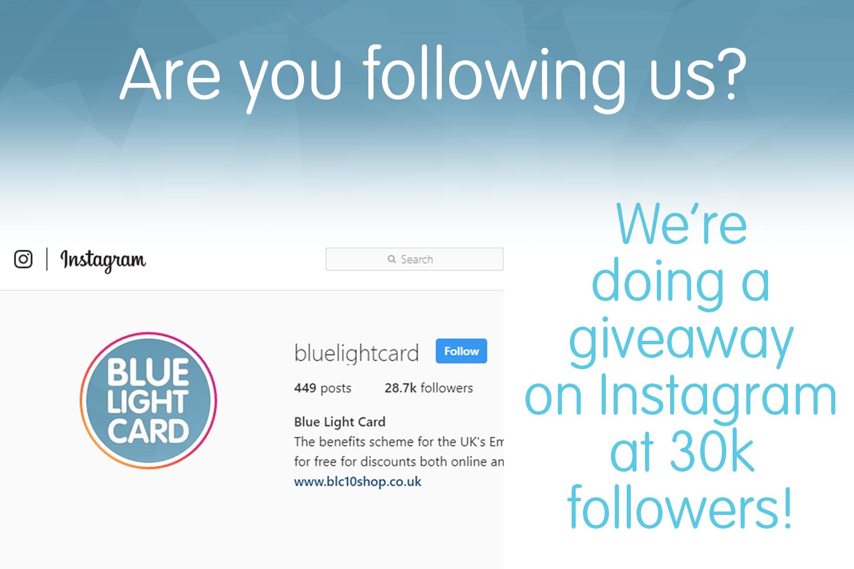 Instagram giveaway at 30k!