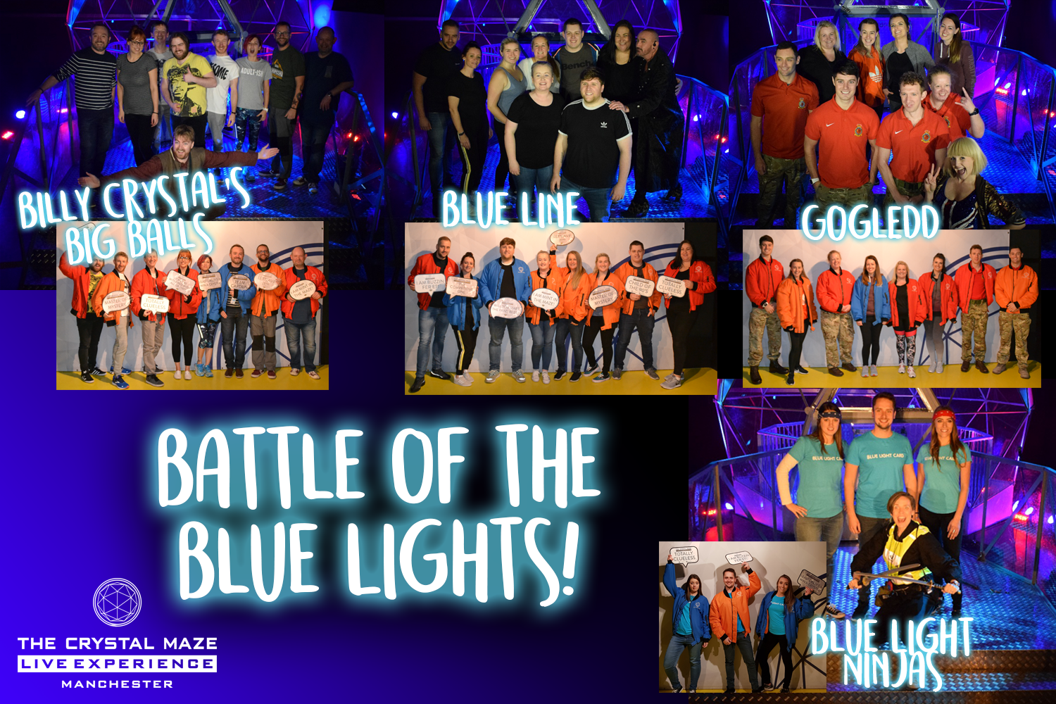 The Crystal Maze LIVE Experience Manchester - Battle of the Blue Lights!