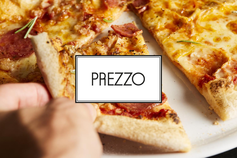 25% off your bill at Prezzo