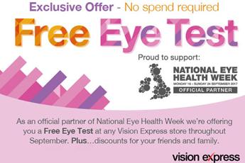 Free Eye Tests for members
