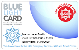 Blue Light Card Fire Service Discounts